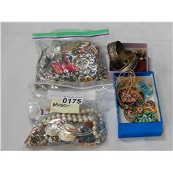 2 BAGS OF LOST PROPERTY JEWELLERY