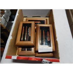5 CASED 3PC PEN W/ POCKET KNIFE SETS