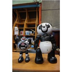 """19"""" WOW WEE TALKING PANDA ROBOT AND OTHER ROBOT"""