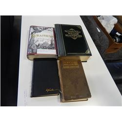 COMPLETE WORKS OF SHAKESPEARE AND HARDCOVER BOOKS