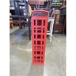 "TELEPHONE BOOTH SHELF 34"" TALL"