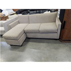 BEIGE SECTIONAL 6' 3 INCH BY 4' 4 INCH