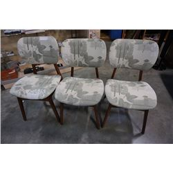 3 MCM DINING CHAIRS