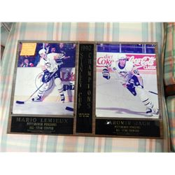 FRAMED 1992 STANLEY CUP CHAMPIONS LEMIEUX AND JAGR LIMITED EDITION 257/1000