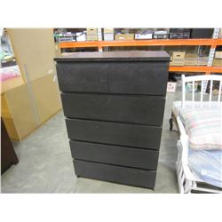 6 DRAWER BLACK IKEA CHEST OF DRAWERS