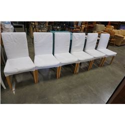 6 WHITE DINING CHAIRS
