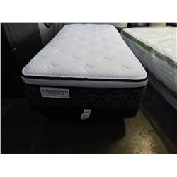 KINGSDOWN SINGLE SIZE HAND CRAFTED PILLOW TOP W/ LOW PROFILE BOX SPRING