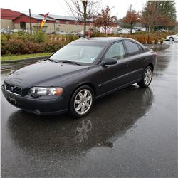 2002 VOLVO S60 T5, 4 DOOR SEDAN AUTOMATIC, 214790KM, WITH 2 KEYS, FOB, REGISTRATION, BOOKS AND CAR F