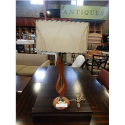MID CENTURY TEAK TABLE LAMP