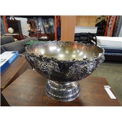 SILVER PLATED LARGE PUNCH BOWL