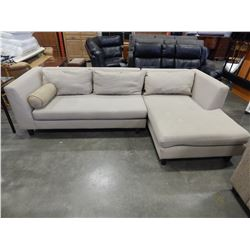 BEIGE SECTIONAL 9 X 5 FOOT