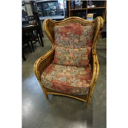 HENRY LINK WING BACK WICKER CHAIR