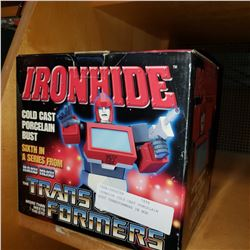 IRONHIDE COLD CAST PORCELAIN BUST TRANSFORMERS IN BOX