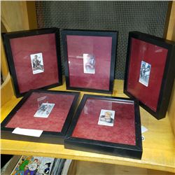 LOT OF FRAMED THE RED STAR PS2 COLLECTIBLE CARDS
