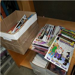 BOX OF APPROX 100 COLLECTIBLE COMICS