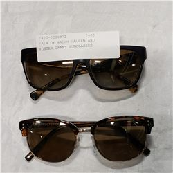 PAIR OF RALPH LAUREN AND FOSTER GRANT SUNGLASSES