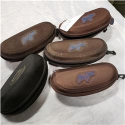4 MAUI JIM AND 1 OAKLEY SUNGLASS CASES