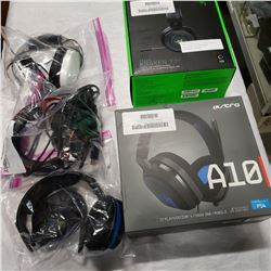 LOT OF RAZER AND OTHER GAMING HEADSETS - NON WORKING CUSTOMER RETURNS