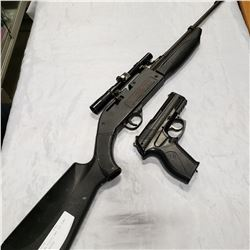 E11 CO2 BB PISTOL AND 760 PUMP MASTER BB RIFLE