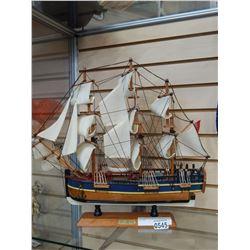 HMS ENDEAVOUR MODEL SHIP W/ RIGGING