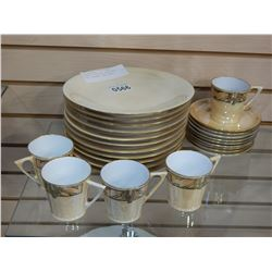 BAVARIA CHINA HOT CHOCOLATE CUPS, SAUCERS, AND PLATES
