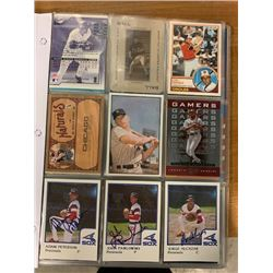 BINDER OF VINTAGE BASEBALL PLAYER STAR CARDS FROM VARIOUS YEARS