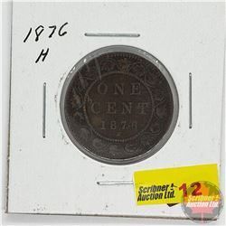 Canada Large Cent: 1876H