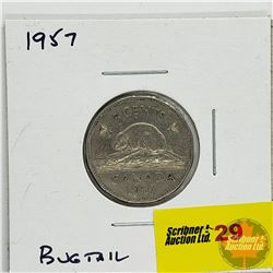 Canada Five Cent 1957 Bugtail