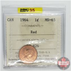 Canada One Cent : 1964 Red (ICCS Cert MS-65)