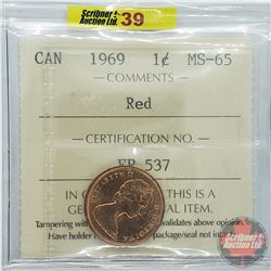 Canada One Cent : 1969 Red (ICCS Cert MS-65)
