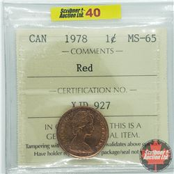 Canada One Cent : 1978 Red (ICCS Cert MS-65)