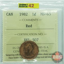 Canada One Cent : 1982 Red (ICCS Cert MS-65)