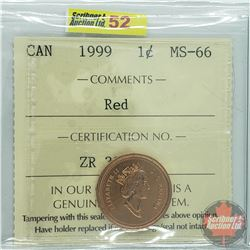 Canada One Cent : 1999 Red (ICCS Cert MS-66)