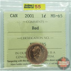 Canada One Cent : 2001 Red (ICCS Cert MS-65)