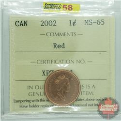 Canada One Cent : 2002 Red (ICCS Cert MS-65)