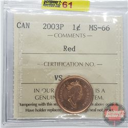 Canada One Cent : 2003P Red (ICCS Cert MS-66)