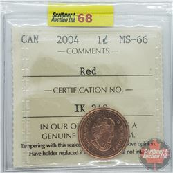 Canada One Cent : 2004 Red (ICCS Cert MS-66)