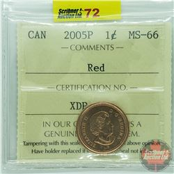 Canada One Cent : 2005P Red (ICCS Cert MS-66)