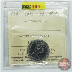 Canada Five Cent : 1975 (ICCS Cert MS-65)