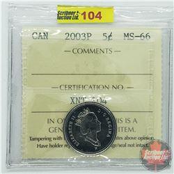 Canada Five Cent : 2003P (ICCS Cert MS-66)