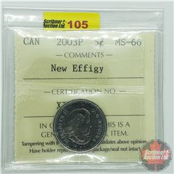 Canada Five Cent : 2003P New Effigy (ICCS Cert MS-66)