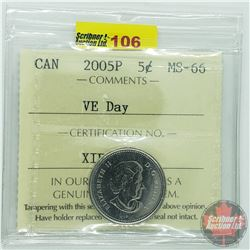 Canada Five Cent : 2005P VD Day (ICCS Cert MS-66)