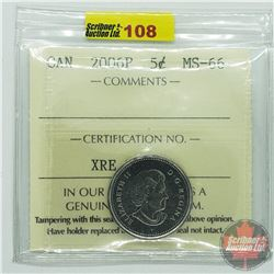 Canada Five Cent : 2006P (ICCS Cert MS-66)