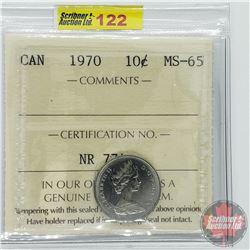 Canada Ten Cent : 1970 (ICCS Cert MS-65)