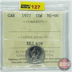 Canada Ten Cent : 1977 (ICCS Cert MS-66)
