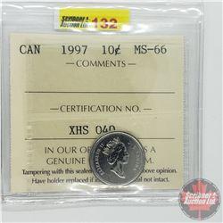 Canada Ten Cent : 1997 (ICCS Cert MS-66)