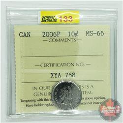 Canada Ten Cent : 2006P (ICCS Cert MS-66)