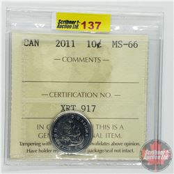 Canada Ten Cent : 2011 (ICCS Cert MS-66)