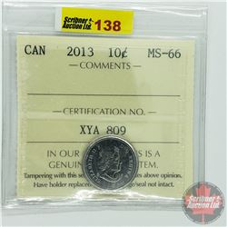 Canada Ten Cent : 2013 (ICCS Cert MS-66)