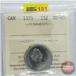 Canada Twenty Five Cent : 1979 (ICCS Cert MS-65)